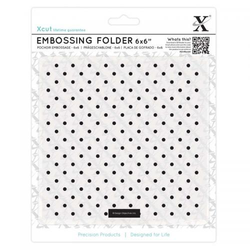 "Xcut 6 x 6"" Embossing Folder - Small Polka Dot"