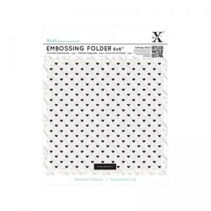 "Xcut 6 x 6"" Embossing Folder - Small Polka Hearts"