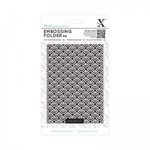 Xcut A6 Embossing Folder - Art Deco Scallop