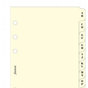 Filofax A-Z index cream 2 letters per tab