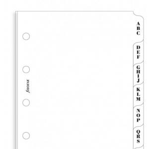 Filofax A-Z index white 3 letters