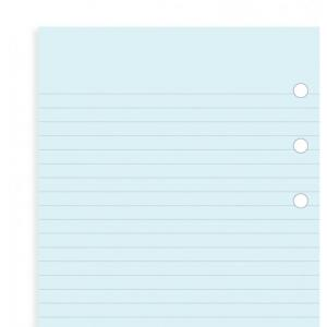 Filofax Blue ruled notepaper