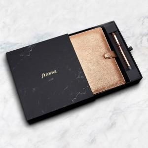 Filofax Finsbury Rose Gold Organiser with Rose Gold Erasable Pen