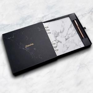 Filofax Marble Clipbook with Rose Gold Erasable Pen