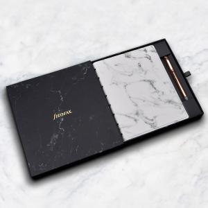 Filofax Marble Notebook with Rose Gold Erasable Pen