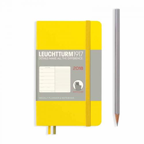 Leuchtturm 1917 Softcover Weekly Planner and Notebook (A6) 2018