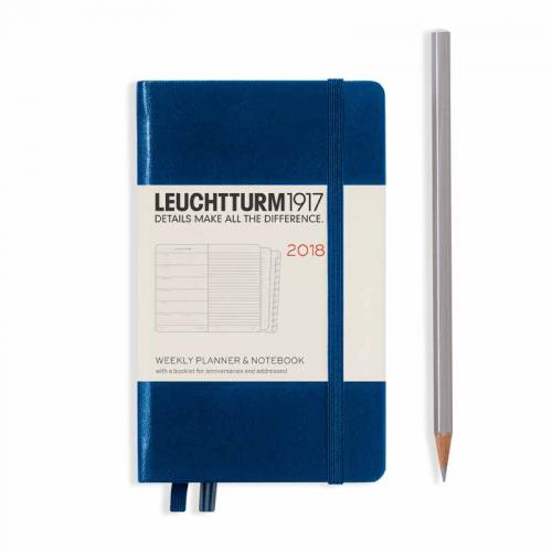 Leuchtturm 1917 Weekly Planner and Notebook Pocket (A6) 2018
