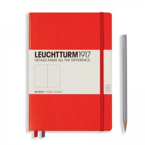 Red Plain Leuchtturm 1917 Medium Notebook
