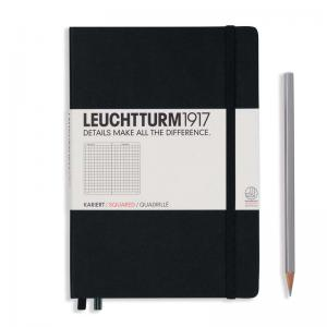 Leuchtturm 1917 A5 Notebook - Black Squared