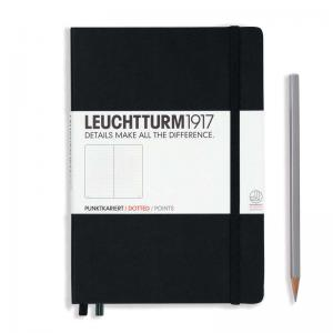 Leuchtturm 1917 A5 Notebook - Black Dotted