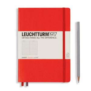 Leuchtturm 1917 A5 Notebook - Red Ruled