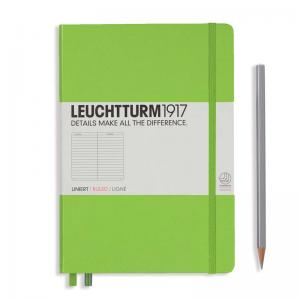 Leuchtturm 1917 A5 Notebook - Lime Ruled