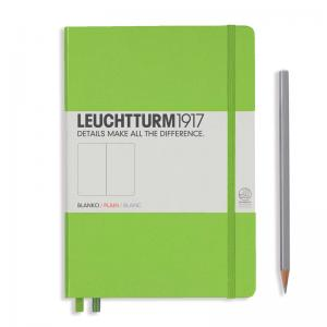 Leuchtturm 1917 A5 Notebook - Lime Plain