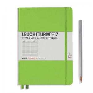Leuchtturm 1917 A5 Notebook - Lime Squared