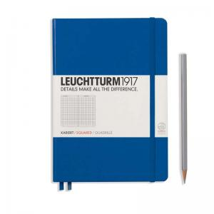 Leuchtturm 1917 A5 Notebook - Royal Blue Squared