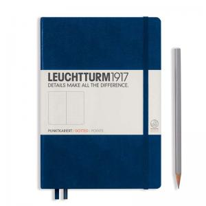 Leuchtturm 1917 A5 Notebook - Navy Dotted