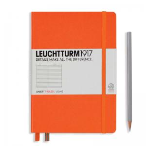 Leuchtturm 1917 A5 Notebook - Orange Ruled