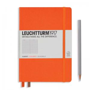 Leuchtturm 1917 A5 Notebook - Orange Squared