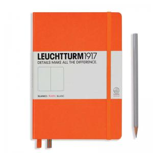 Leuchtturm 1917 A5 Notebook - Orange Plain