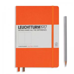 Leuchtturm 1917 A5 Notebook - Orange Dotted
