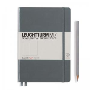 Leuchtturm 1917 A5 Notebook - Anthracite Plain