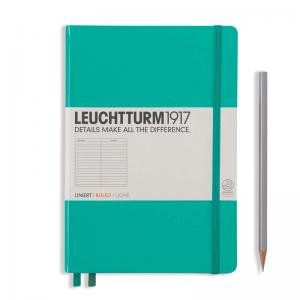 Leuchtturm 1917 A5 Notebook - Emerald Ruled