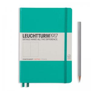 Leuchtturm 1917 A5 Notebook - Emerald Dotted