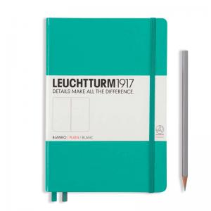 Leuchtturm 1917 A5 Notebook - Emerald Plain