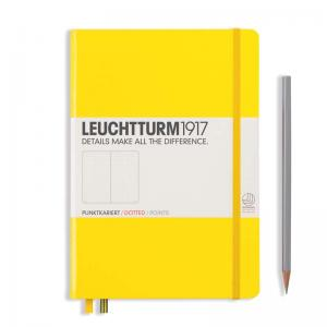Leuchtturm 1917 A5 Notebook – Lemon Dotted