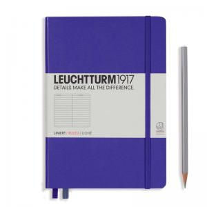Leuchtturm 1917 A5 Notebook – Purple Ruled