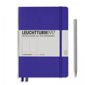 Leuchtturm 1917 A5 Notebook – Purple Dotted