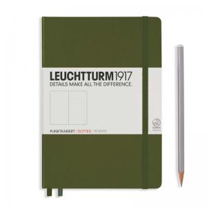 Leuchtturm 1917 A5 Notebook – Army Dotted