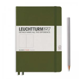 Leuchtturm 1917 A5 Notebook – Army Plain