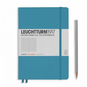 Leuchtturm 1917 Medium (A5) Notebook Nordic Blue Squared