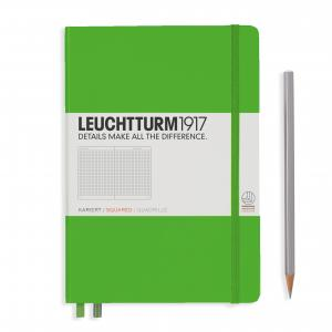 Leuchtturm 1917 Medium (A5) Notebook Fresh Green Squared