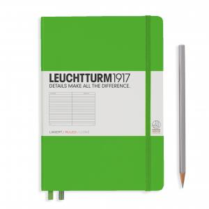 Leuchtturm 1917 Medium (A5) Notebook Fresh Green Ruled