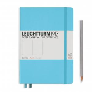 Leuchtturm 1917 Medium (A5) Notebook Ice Blue Plain