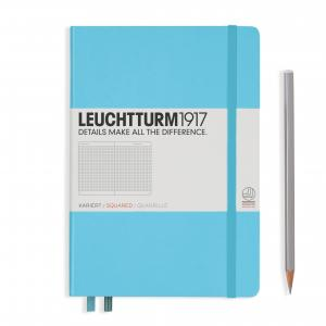 Leuchtturm 1917 Medium (A5) Notebook Ice Blue Squared