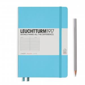 Leuchtturm 1917 Medium (A5) Notebook Ice Blue Ruled