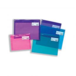 At First Stop Stationers we hold a wide range of plastic zip bags available in various colours and sizes.