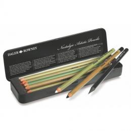 From 9B to 9H we can supply pencils.  Artist quality to student quality we have sets or single pencils available.